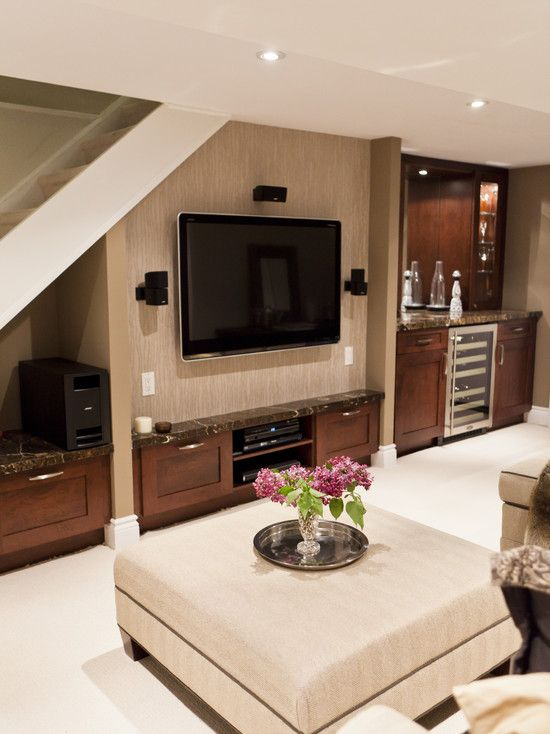 So Much Packed Into One Space Media Center Storage Wet Bar By