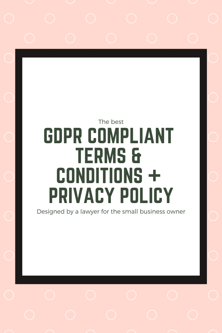 Privacy Policy Template 2019 >> Gdpr Compliant Terms Conditions Privacy Policy For Your