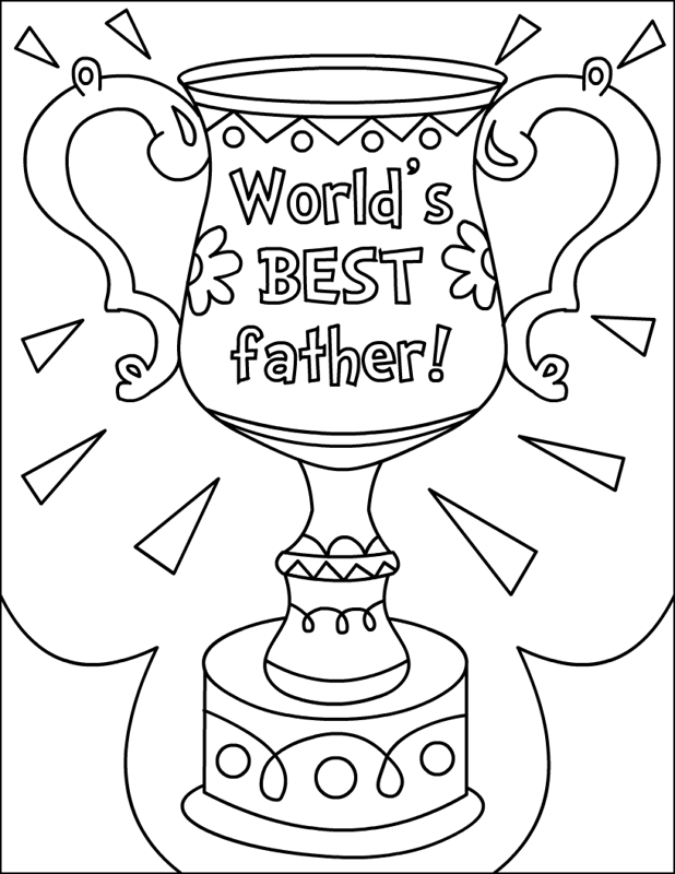 World Best Fathers Award Coloring Page