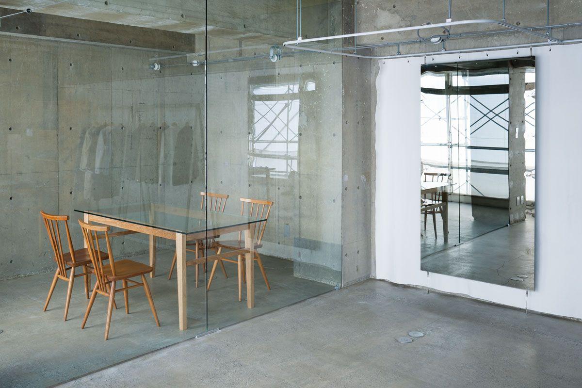 Concrete Interior Design concrete and glass corporate office interior design | office