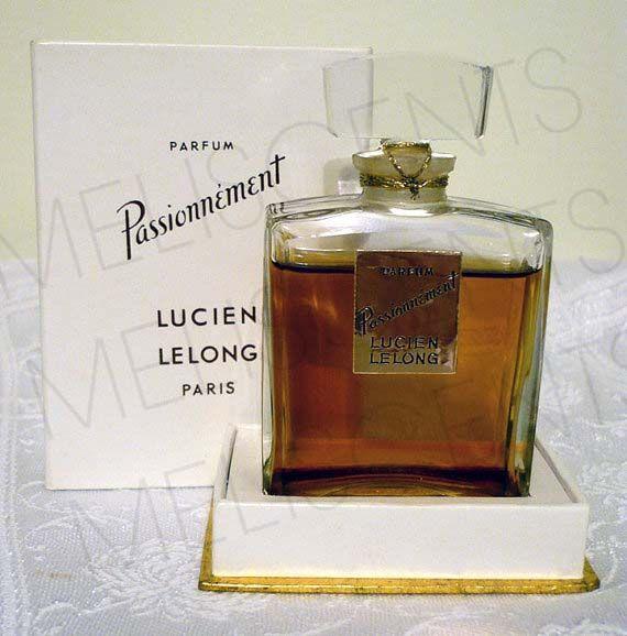 rare vintage perfume bottle lucien lelong passionnement