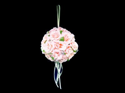 Different wedding bouquet ideas for ashley wedding pinterest weddinglily pink silk flower ball decoration ball diameter measures made of quality silk flower used for flower girl carrying walk down the aisle mightylinksfo