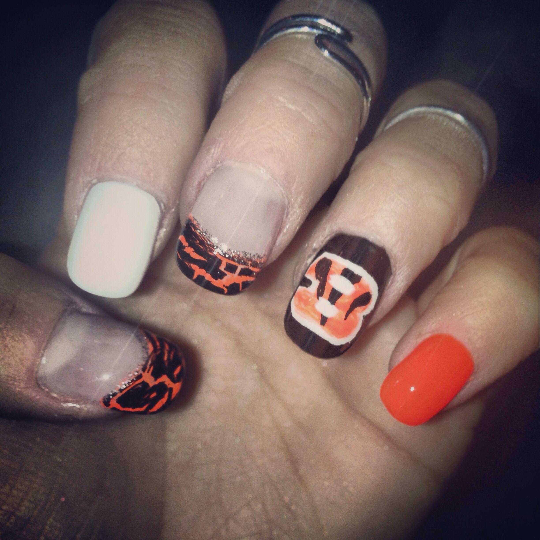 Cincinnati Bengals Nails   Hair, Skin & Nails   Pinterest   Mani ...