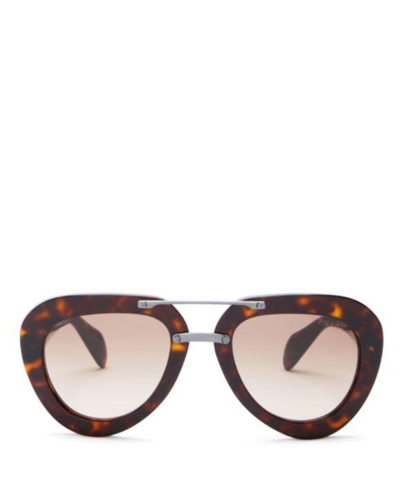 d547ffa4216b Prada Catwalk Aviator Sunglasses | Sunglasses | Sunglasses, Prada ...