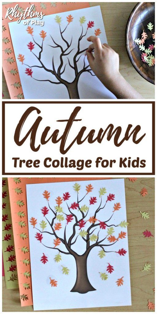 Easy Autumn Tree Collage for Kids -   20 fall crafts tree ideas