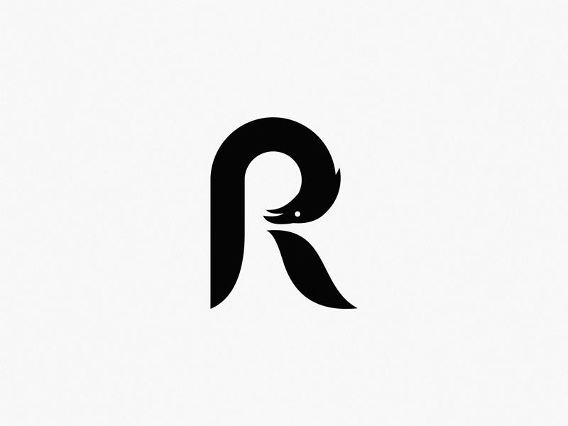 Letter R Raven Letter R Logo Design Art Lettering