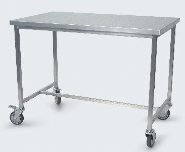 Stainless Steel Work Table On Casters AXCR SERIES Conf - Stainless steel work table with wheels