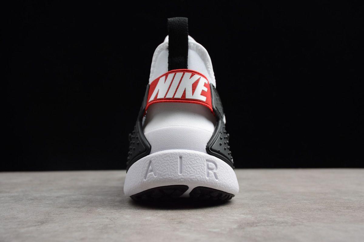 Men's Nike Air Huarache Drift BR White/Black-Red Running Shoes ...