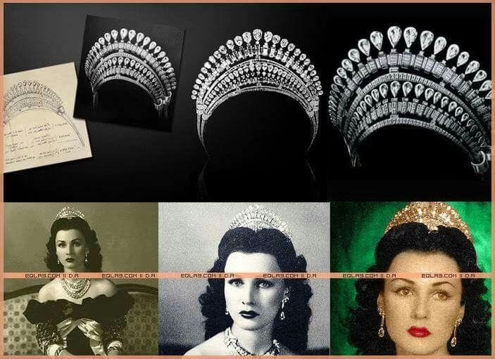 تاج الاميرة فوزية Crown Crown Jewelry Hand Fan