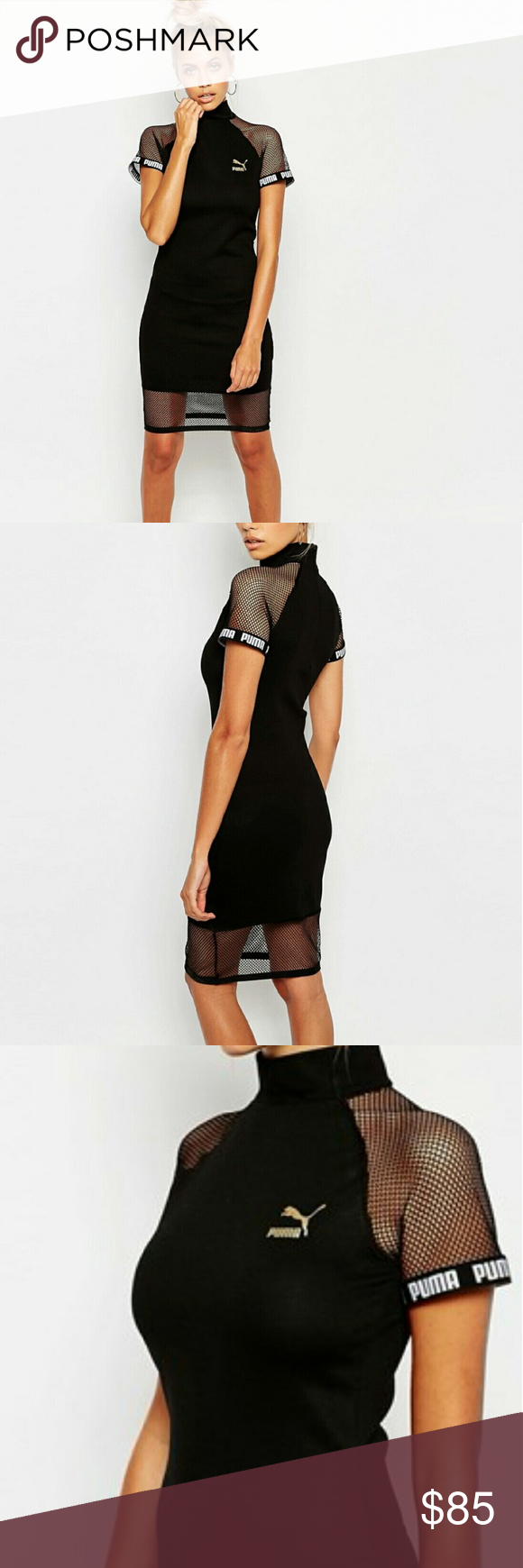 Puma Bodycon Dress High neck, with mesh in all the right places. Sold Out. puma  Dresses