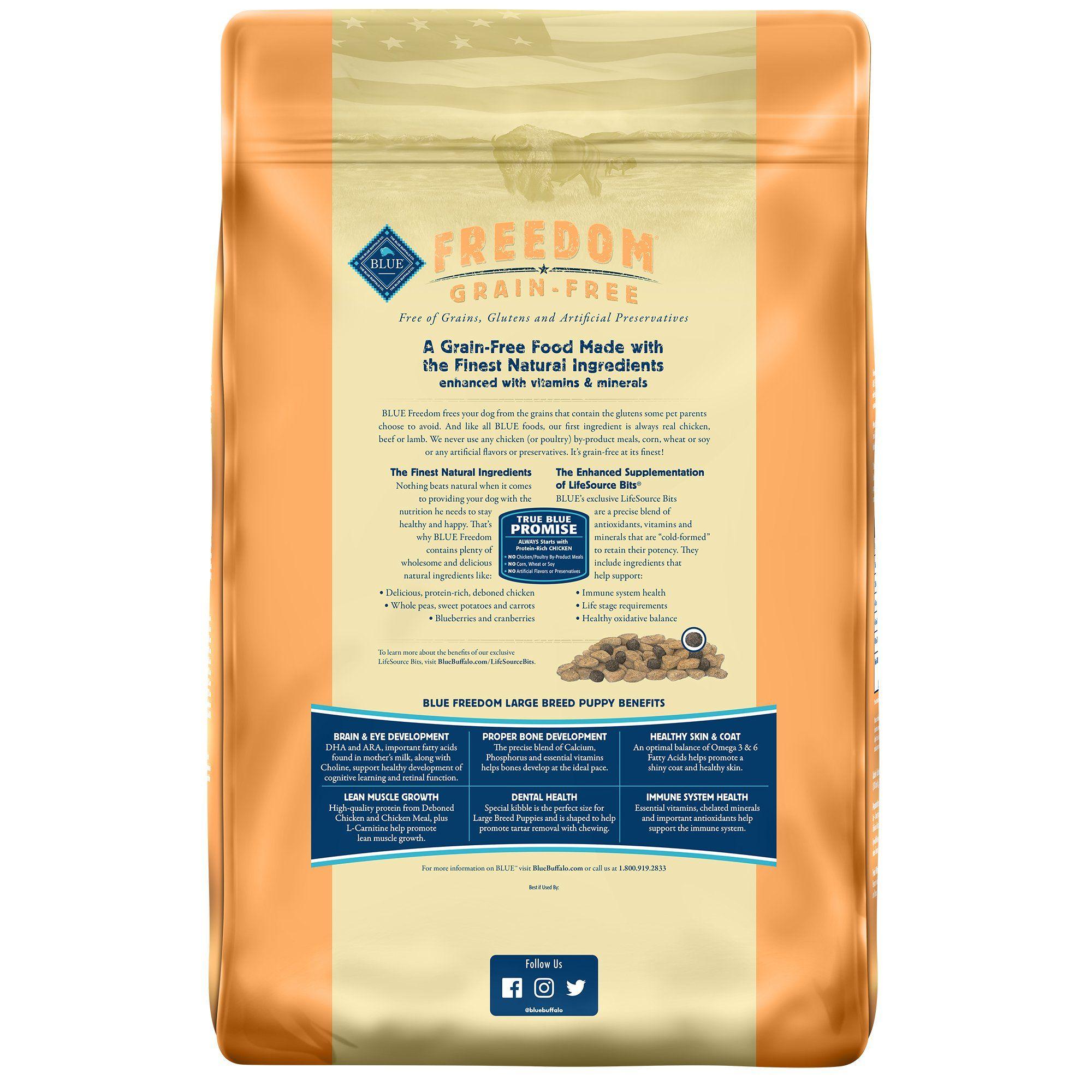 Blue Buffalo Blue Freedom Grain Free Chicken Recipe Large Breed