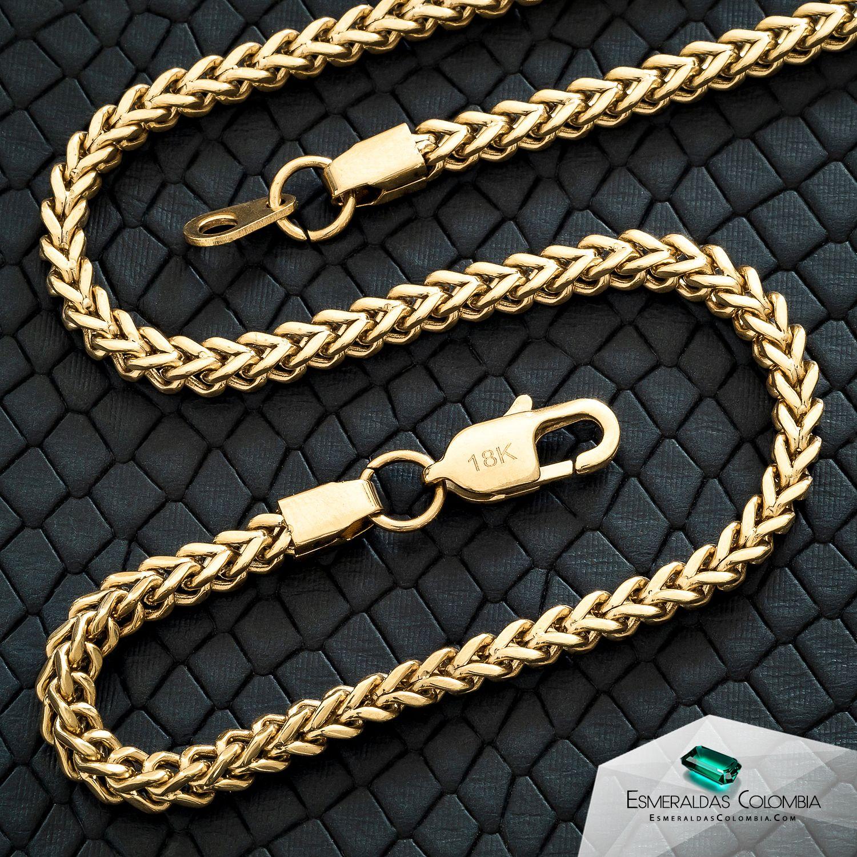 Cadena Tejido Franco En Oro Laminado 18k Collar De Oro Para Hombre Cadenas De Oro Para Hombres Pulsera De Oro Hombre