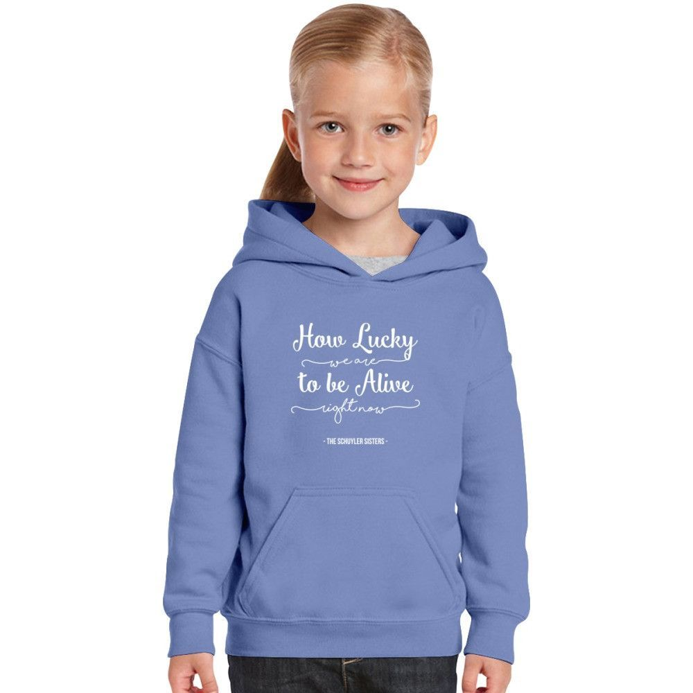 How Lucky We Are To Be Alive Right Now Kids Hoodie