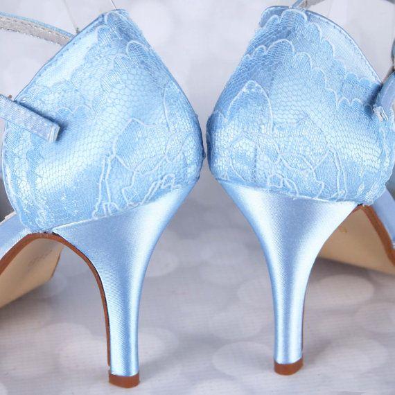 Awesome Wedding Shoes, Blue Wedding Shoes, Lace Wedding Shoes, Custom Wedding Shoes,  Blue