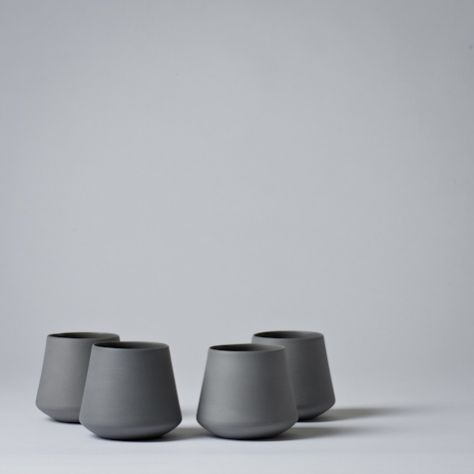 Mjölk : Whiskey cup 7 cm / grey by Nathalie Lahdenmaki - Whiskey cup