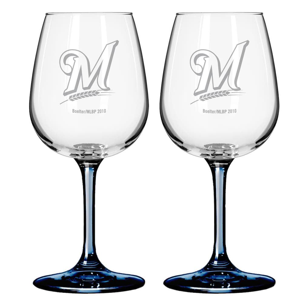 98ac480906ca Milwaukee Brewers 2-pc. Wine Glass Set, 12 Oz in 2019   Products ...