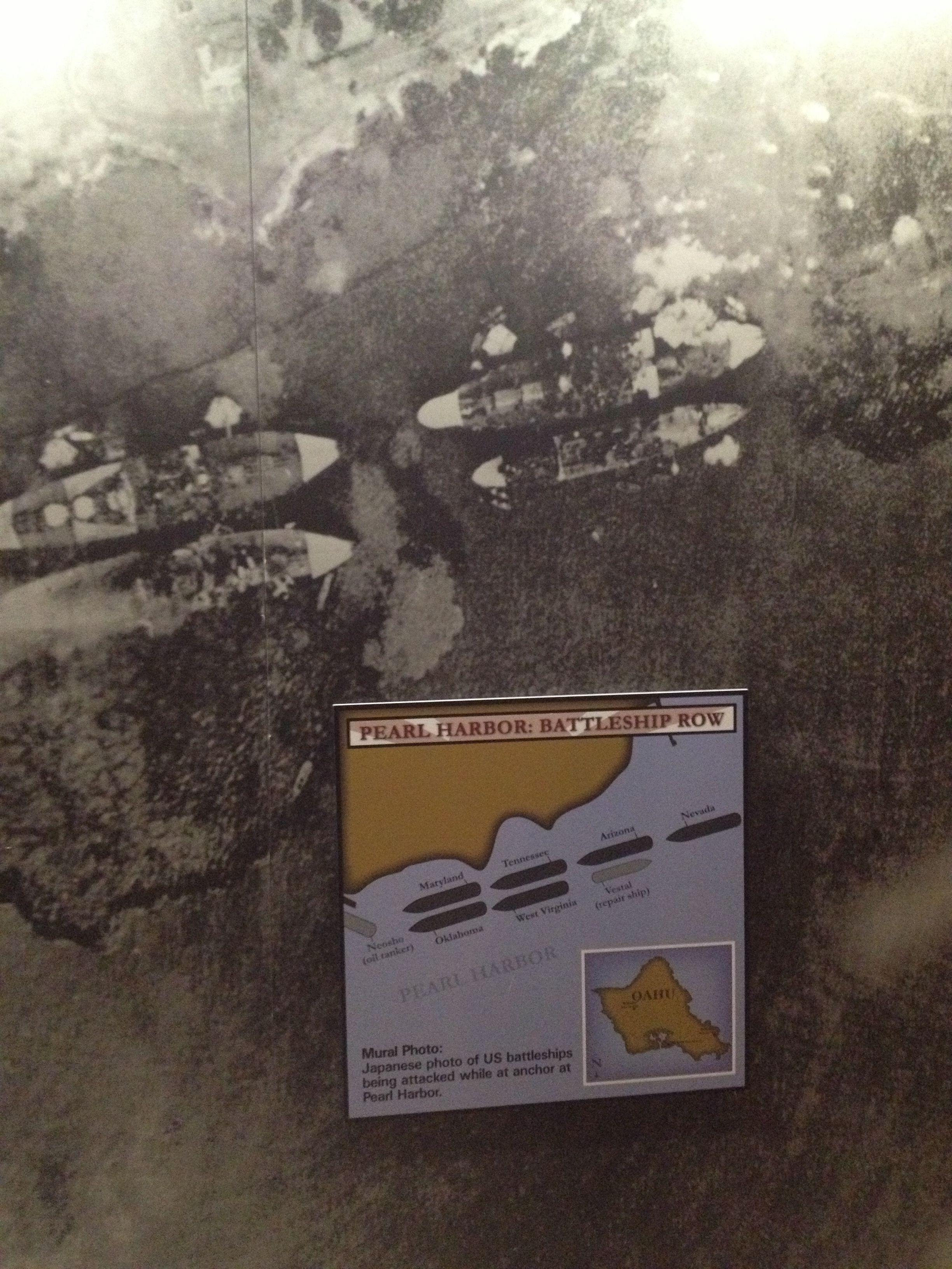 Map of Battleship Row Pearl Harbor Pearl harbor