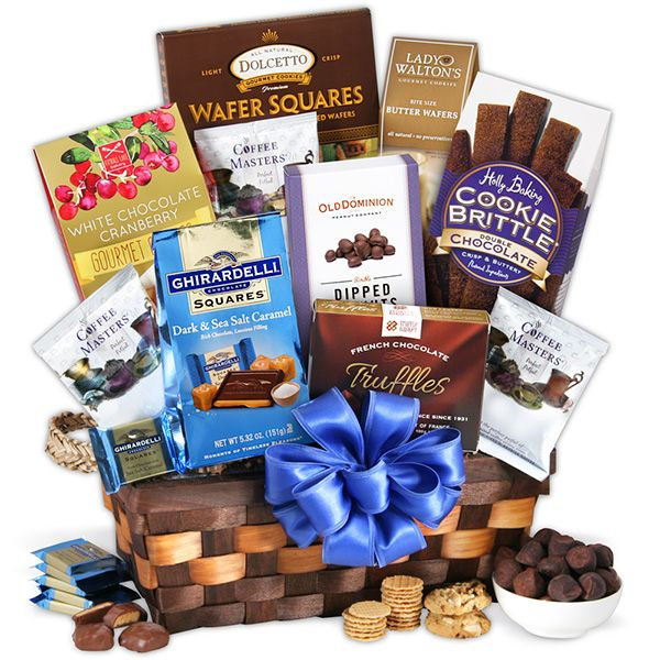 Coffee & Chocolates Gift Basket Classic | Thank you gift baskets ...