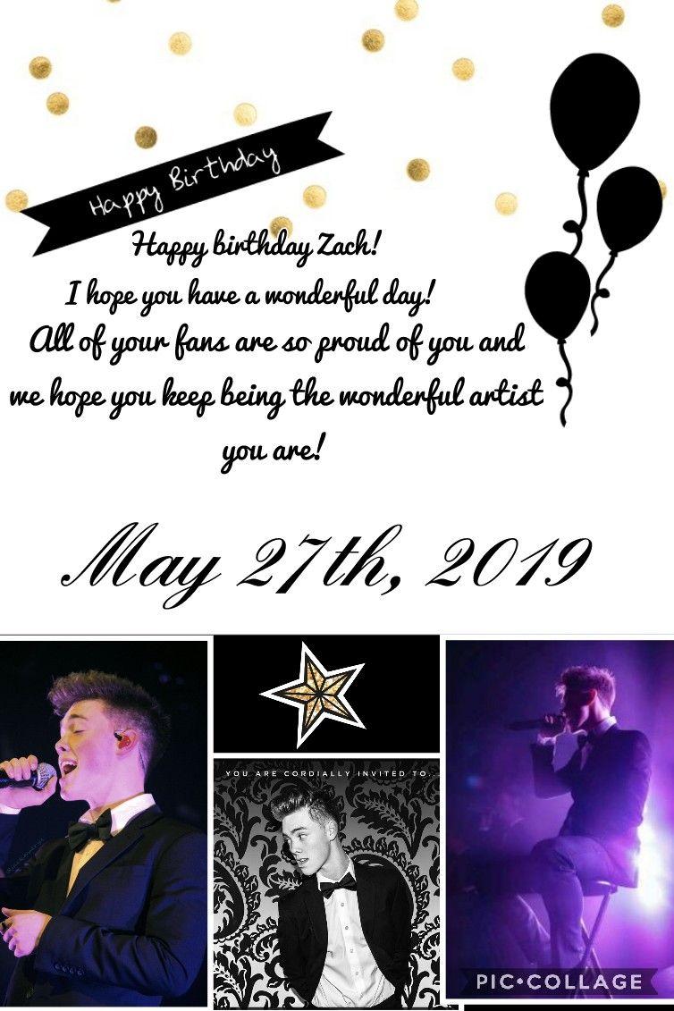 Happy Birthday Zach Herron Happy 18th Birthday Happy Birthday