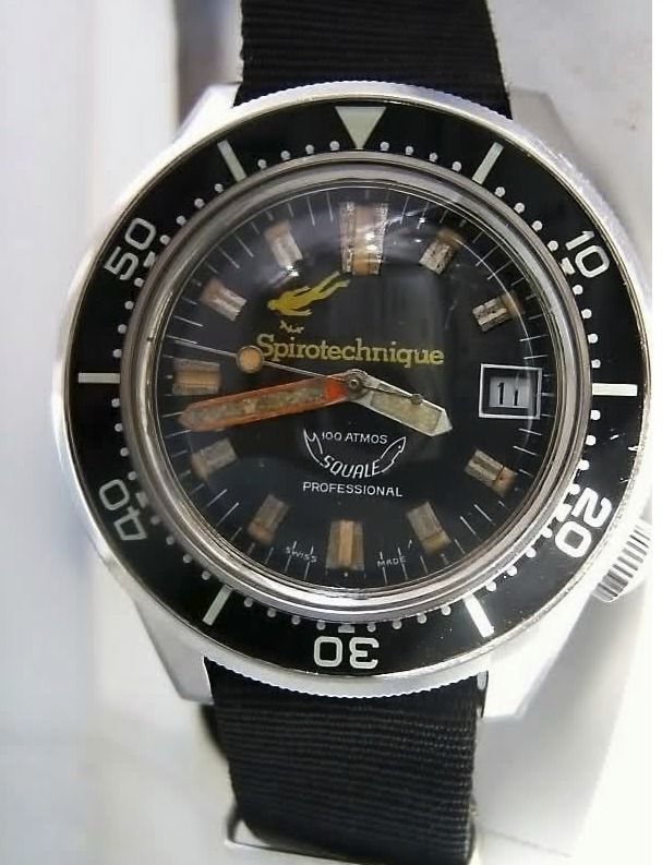 Vintage Squale Spirotechnique Professional 1000m.  Vintage and new Squale watches are very cool.