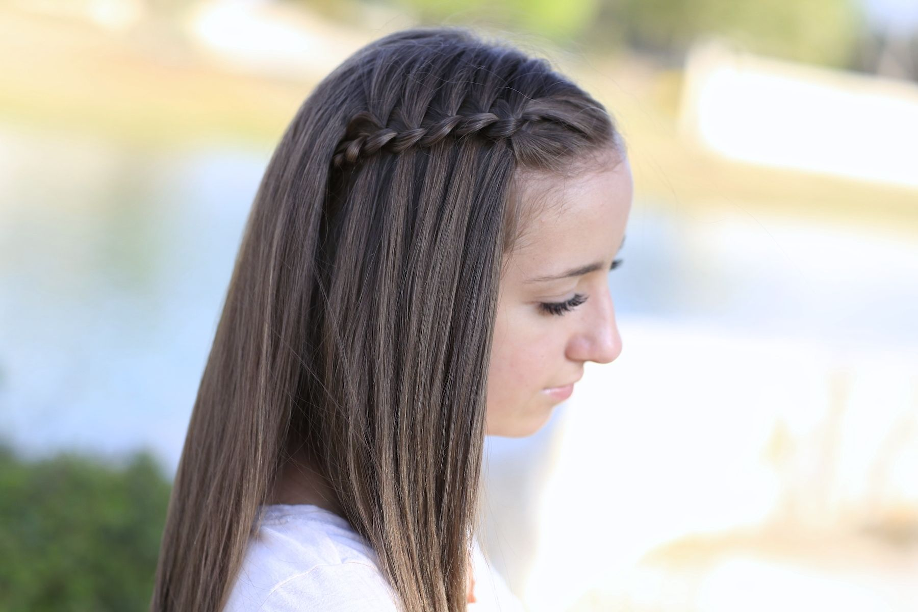 Fourstrand waterfall braid hairstyles pinterest girl