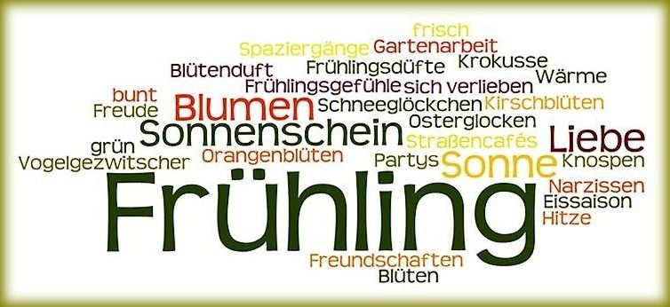 Fruhling Vokabeln Learn German Vocabulary German