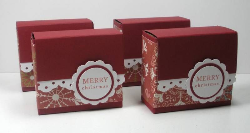 Christmas Ghirardelli Box by die cut diva - Cards and Paper Crafts at Splitcoaststampers