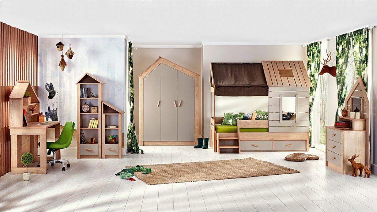 "Kinderzimmer komplett Set ""Forester's Hut"" 6tlg"