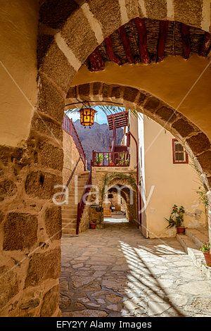 Inside St. Catherine's monastery, Sinai, Egypt. Stock Photo