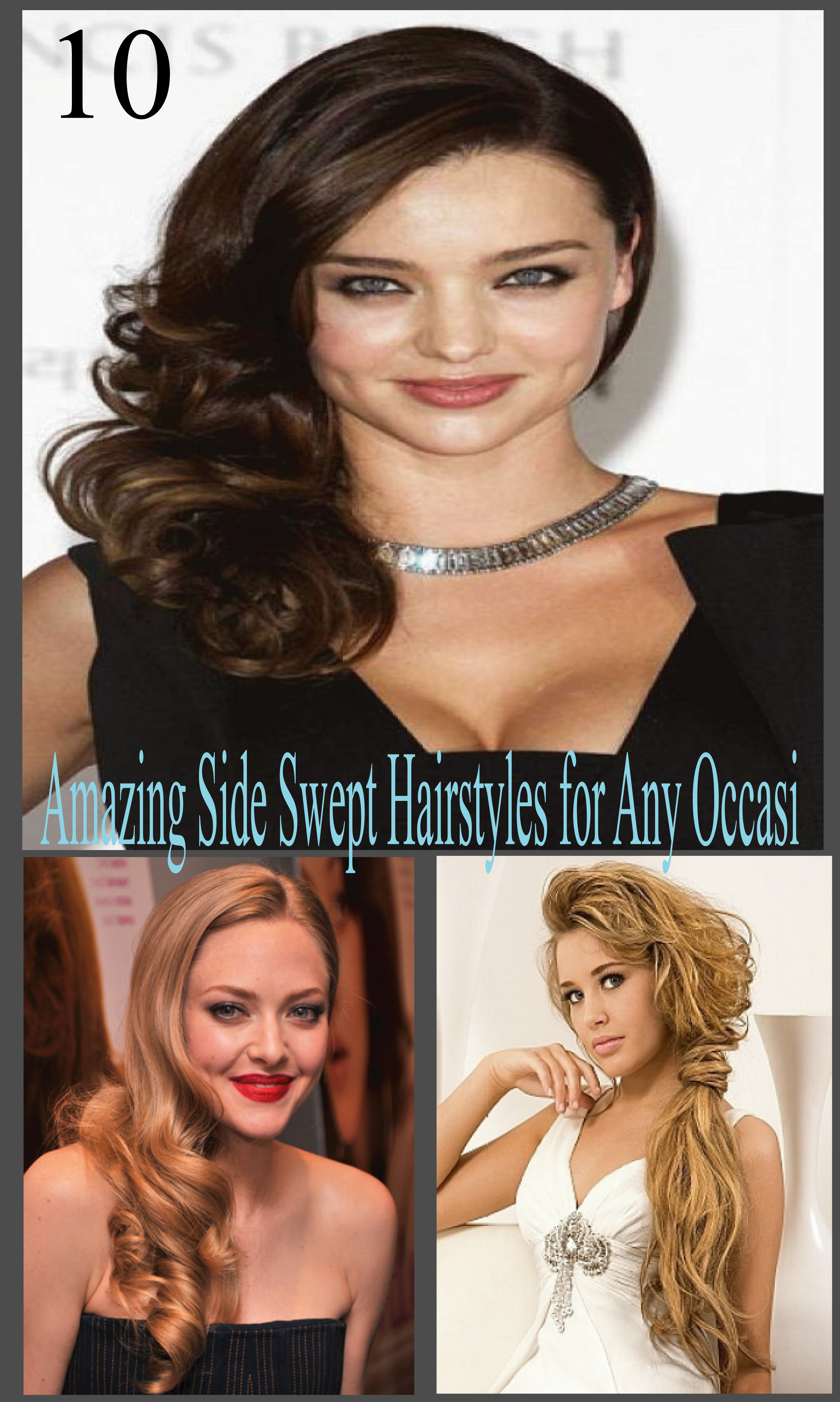 10 Amazing Side Swept Hairstyles For Any Occasion All Round