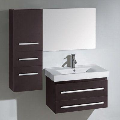 Antonio 28 Inch Single Sink Bathroom Vanity Set By Virtu Usa Contemporary Bathroom Vanity 30 Inch Bathroom Vanity Bathroom Vanity