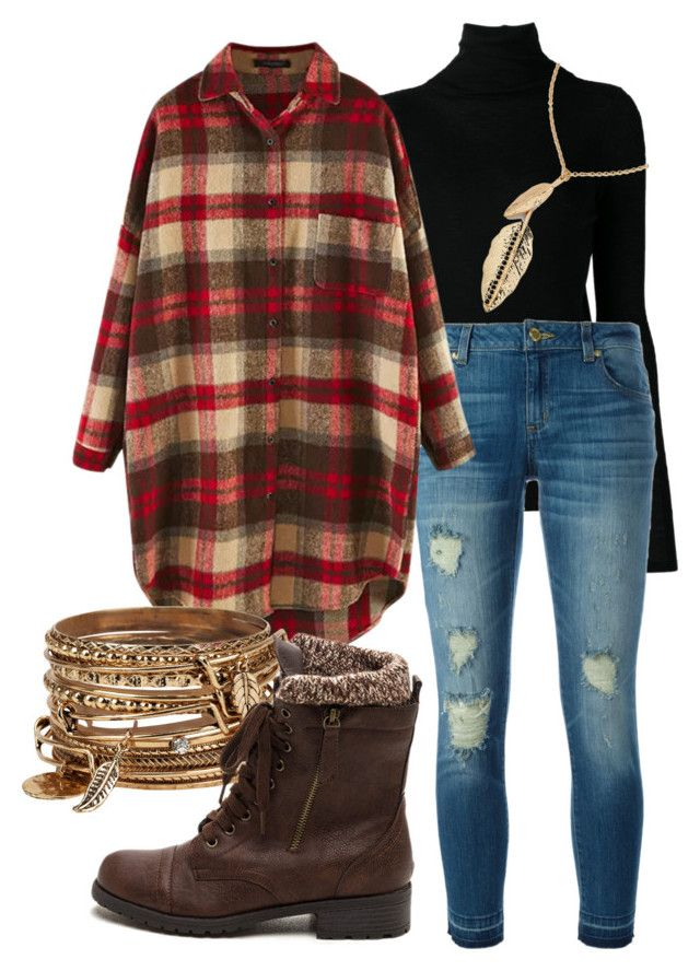 """""""Autumn Feather and Plaid"""" by emiade ❤ liked on Polyvore featuring Vince, MICHAEL Michael Kors, maurices and ALDO"""