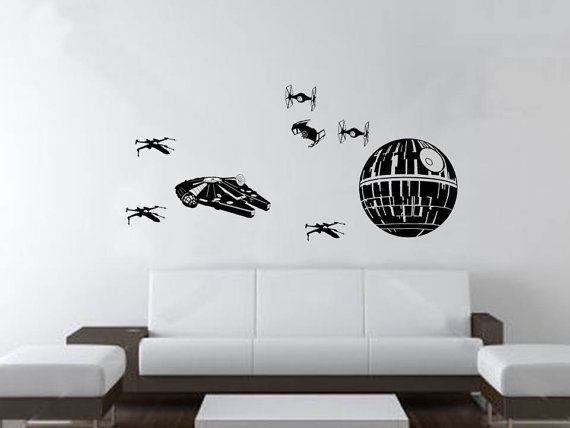 Science fiction action fight scene wall decal star by mygeekery 28 00