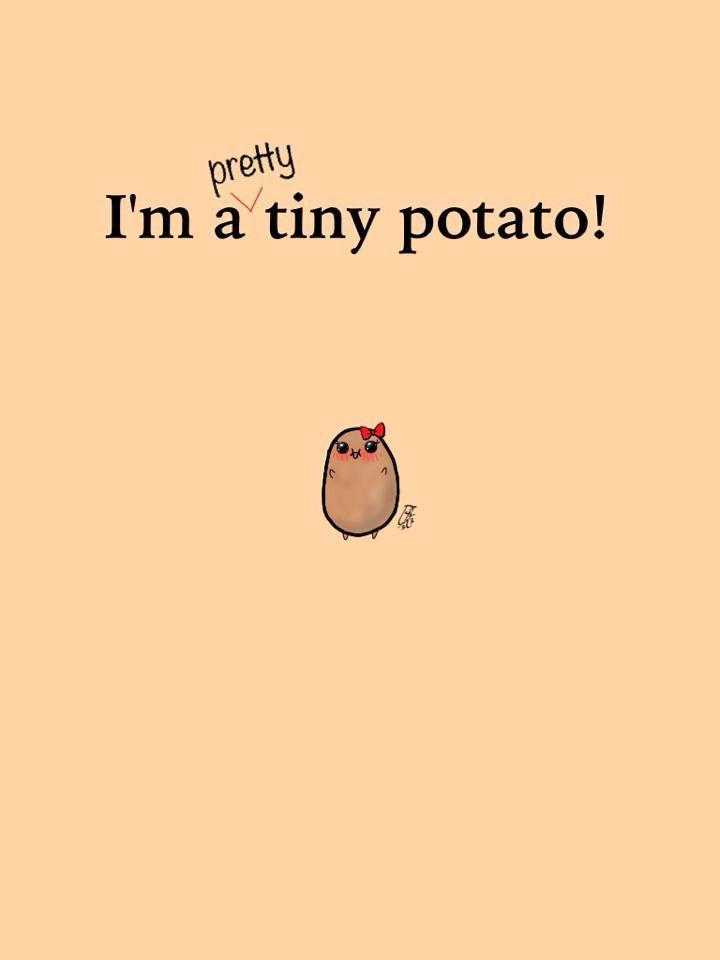 Im A Pretty Tiny Potato Tiny Potato Cute Potato Inspirational Quotes Background