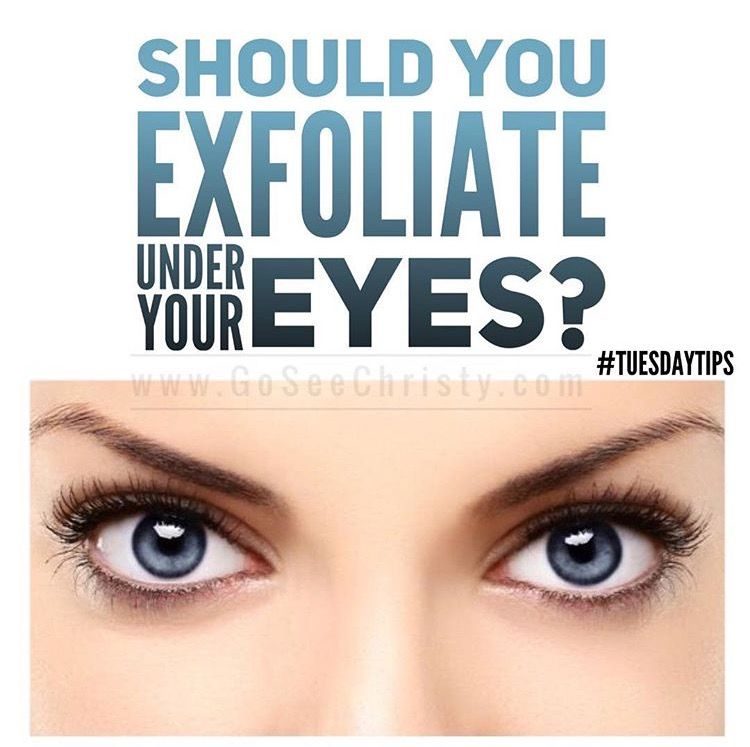 Should you exfoliate your eyes yes but gently the skin around should you exfoliate your eyes yes but gently the skin around the eyes is thinner delicate and more sensitive use a powder exfoliant vs a scrub ccuart Images