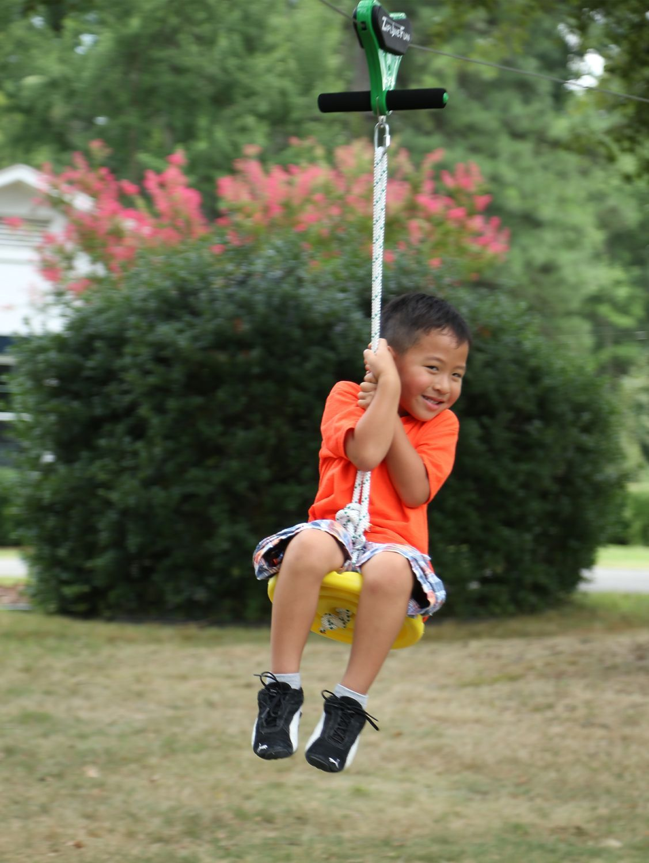 Zip Line Seat with Rope   Zip line backyard, Kids zipline ...