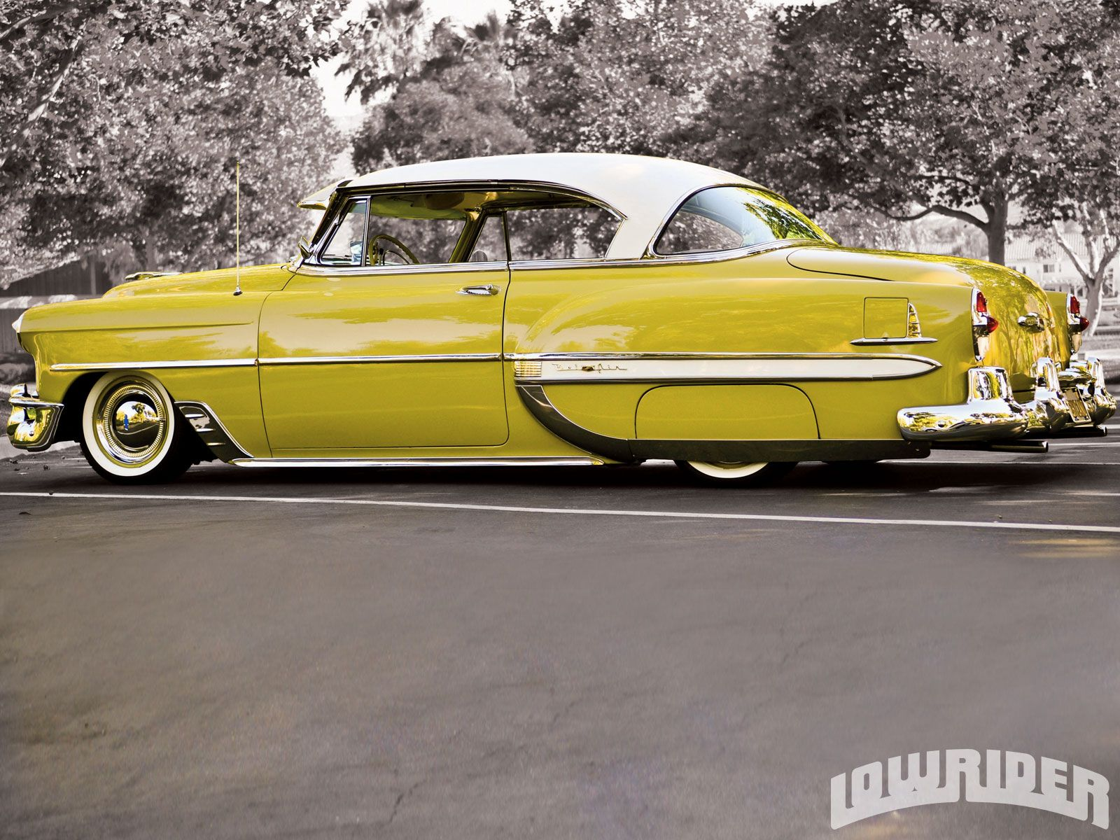 1953 chevrolet bel air and 2004 harley road king lowrider magazine