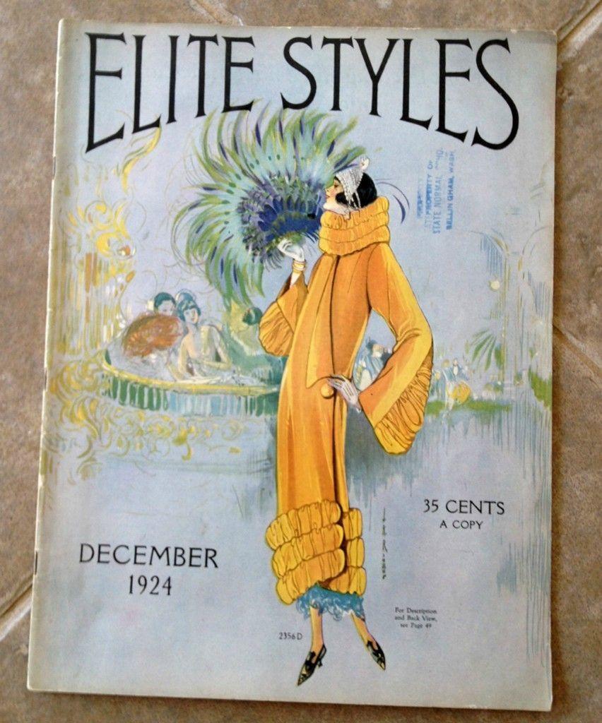 Elite Styles Magazine December 1924 1920s Vintage Fashion Ebay