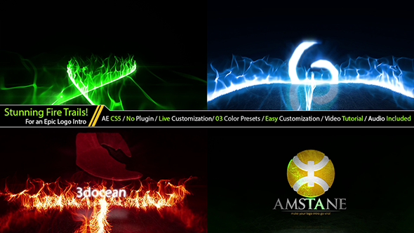 Cinematic Fire Particle Trails Logo Opener In 2020 Optical Flares Corporate Logo Intro