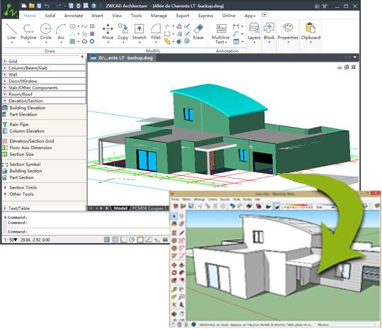 Download free cad software for view and drawing dwg files,2D and 3D