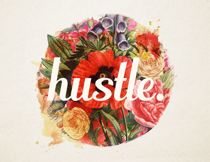 """hustle."" Art Print by Krissy Diggs on Society6 