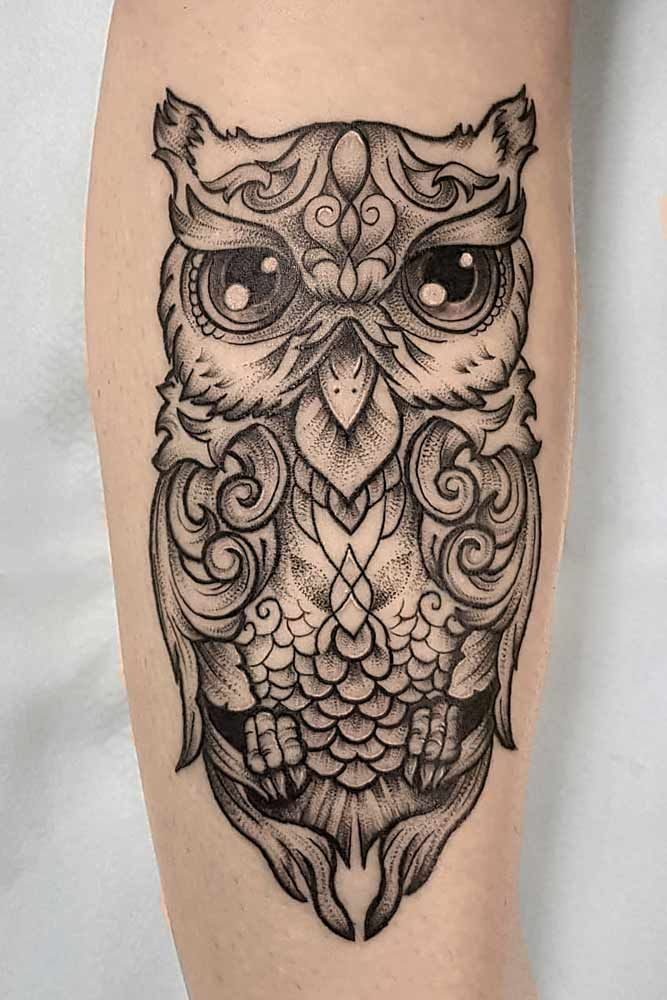 24 Owl Tattoo Designs That Will Make You Drool With