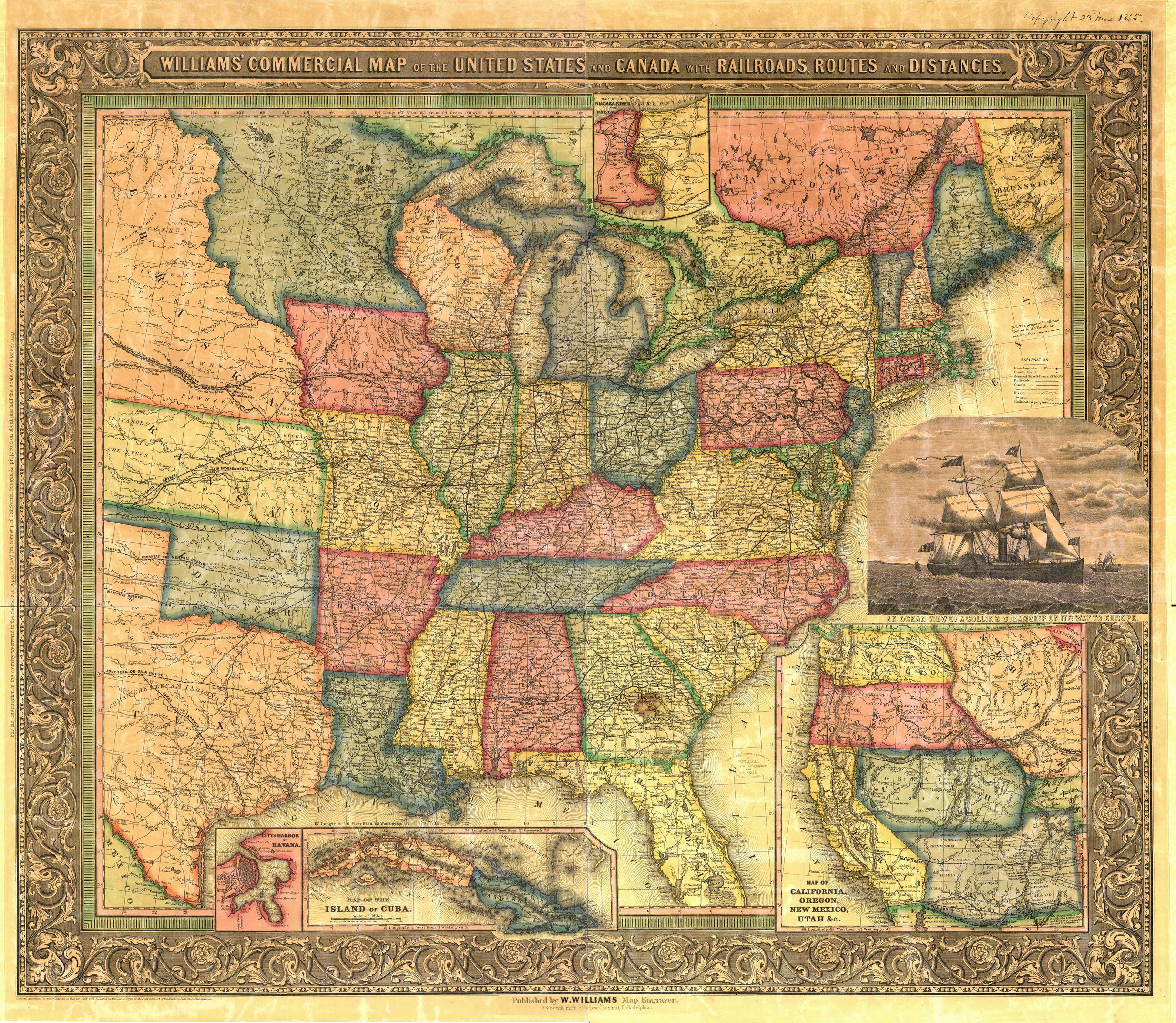 HttpwwwoldmapscomRRWilliamsmaponlywebjpg - 1889 us railroad map