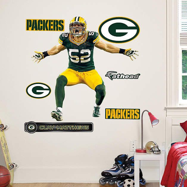 Fathead Green Bay Packers Clay Matthews Sack Jr   Wall Sticker Outlet Part 65