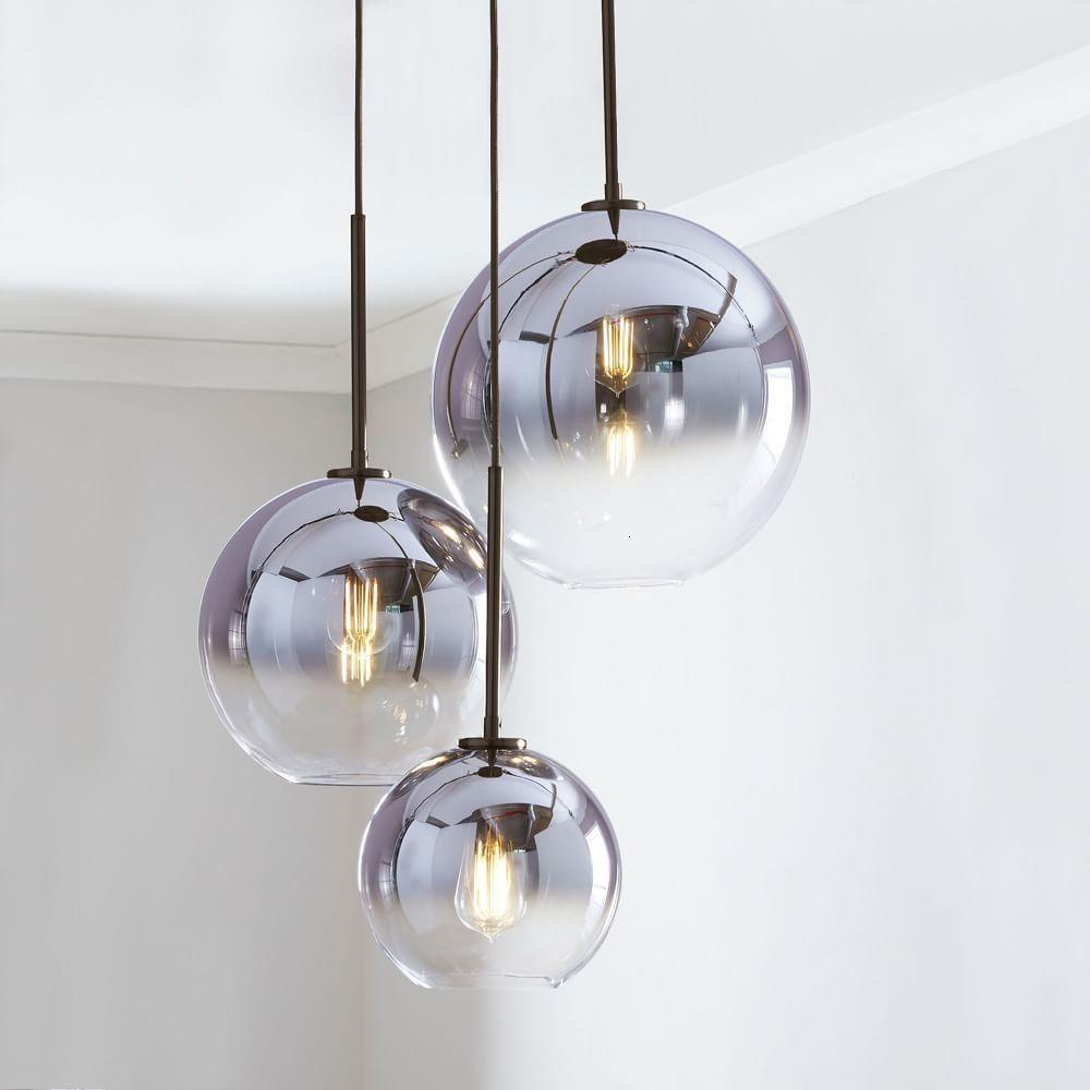 Moderne Nordic Glas Anhanger Licht Led E27 Farbverlauf Loft Kreative Hangende Lampe Fur Home Schlafzimmer Wohnzimmer Moderne Lampen Glaslampen Glaskugel Lampe