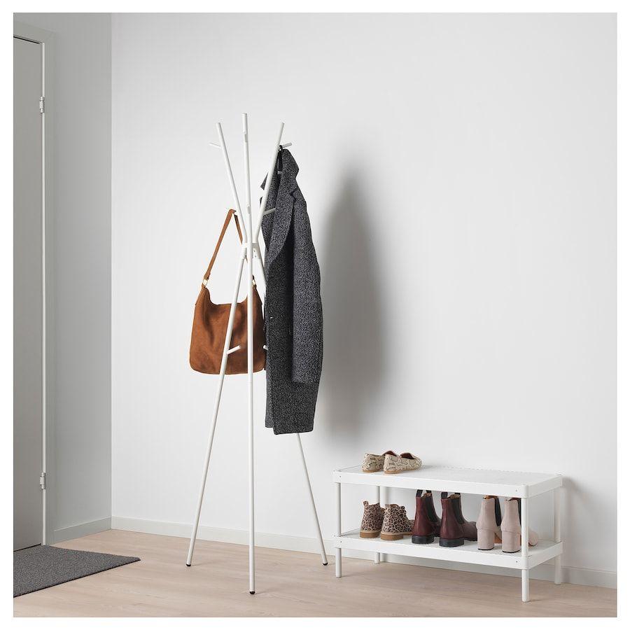 Ekrar Garderobenstander Weiss 169 Cm Ikea Osterreich In 2021 Hat And Coat Stand Ikea Coat Rack Coat Stands