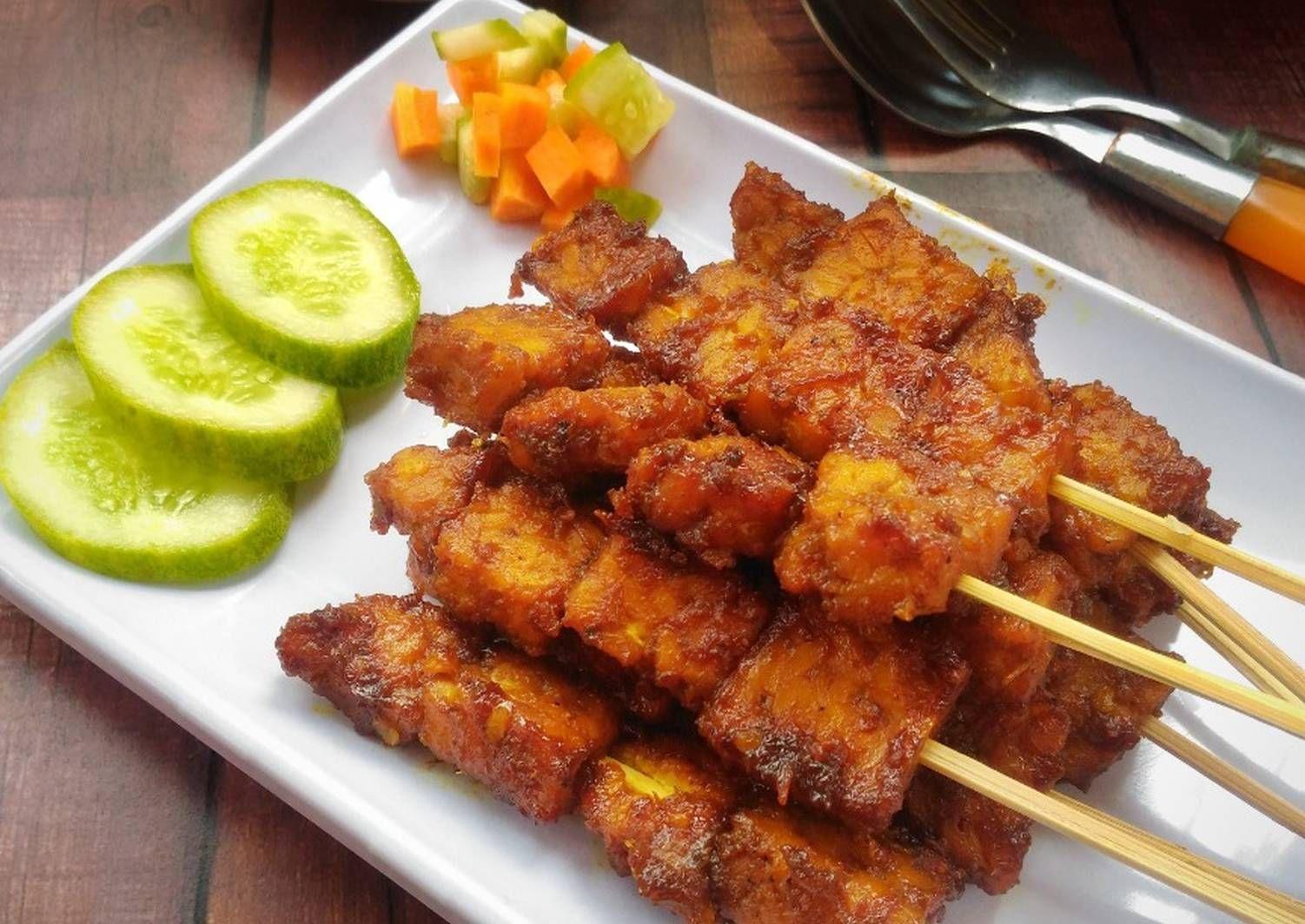 Resep Sate Tempe Oleh Mamaquink Resep Resep Masakan Asia Resep Resep Tempe