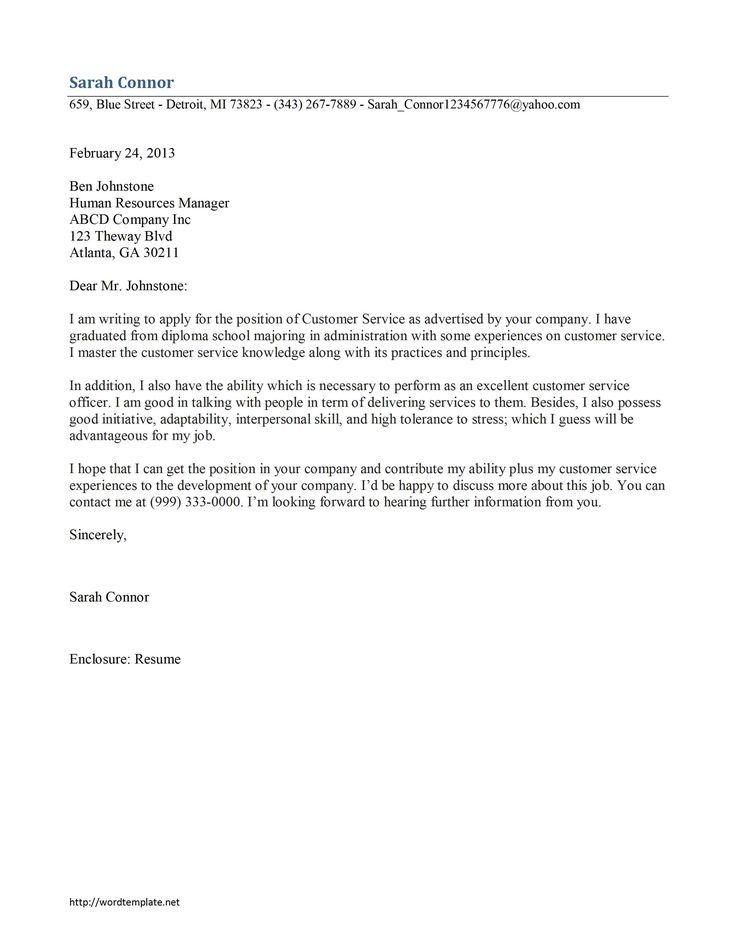 template application letter sample cover latter pinterest job pdf