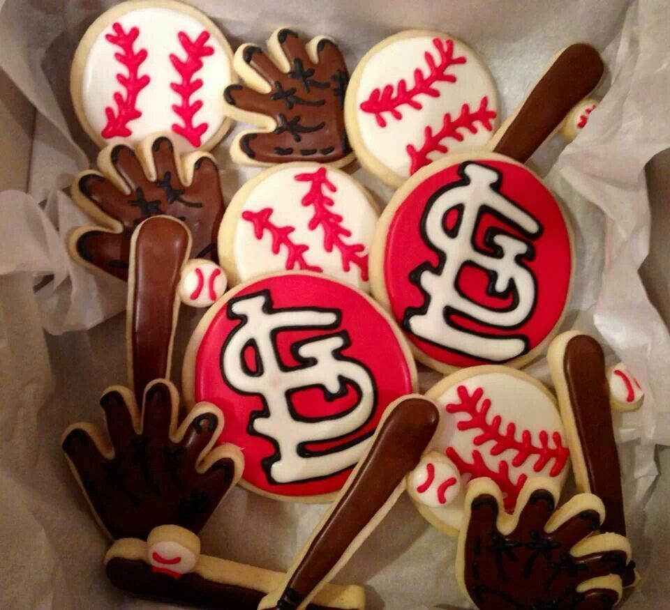 Kanes 2nd Birthday Party Baseball Theme Cookies St Louis Cardinals