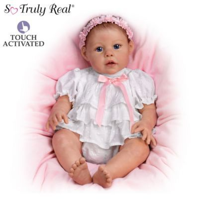 Touch Activated Hugging Baby Doll By Artist Jannie Delange